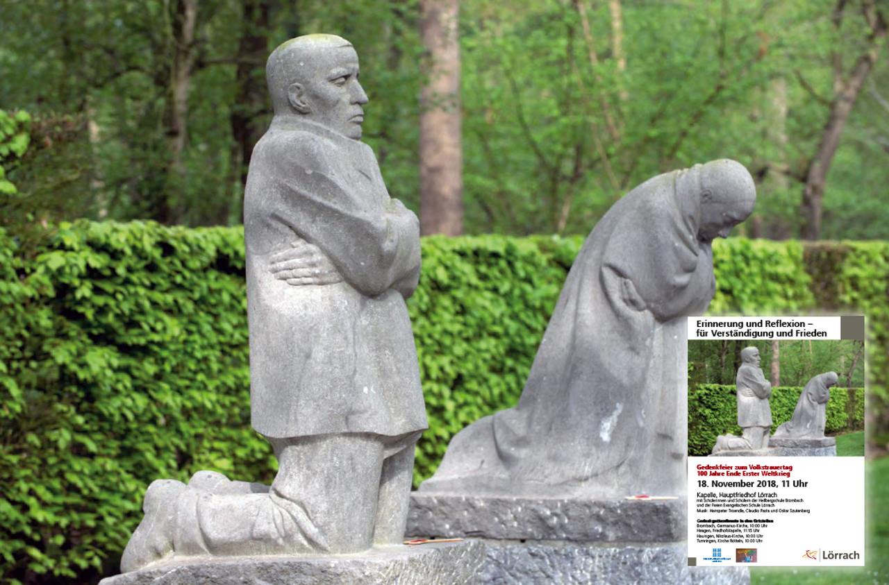 Für Verständigung und Frieden - Lörrach gedenkt am Volkstrauertag den Opfern von Krieg und Gewaltherrschaft - meinWiesental / Kommunales