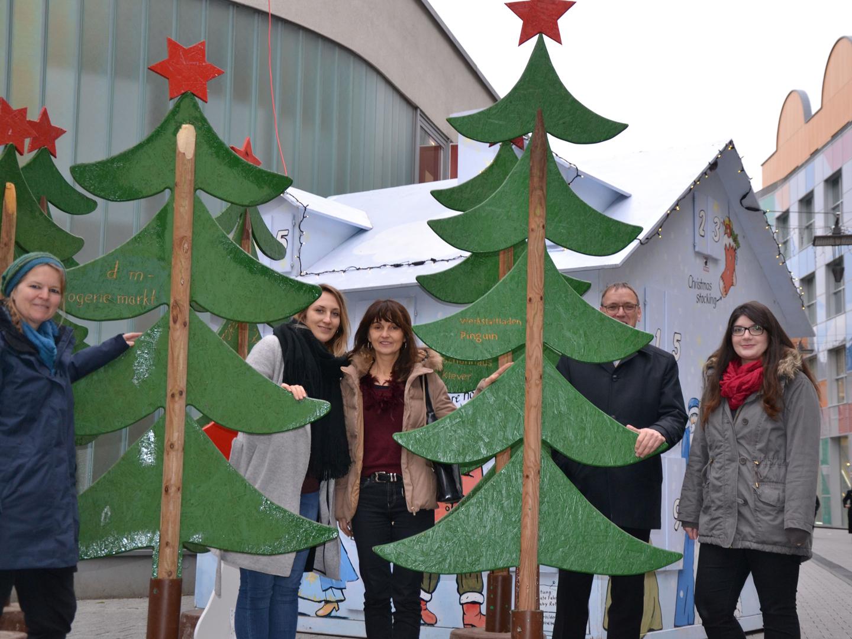 Lörracher Adventskalender auf dem Chesterplatz