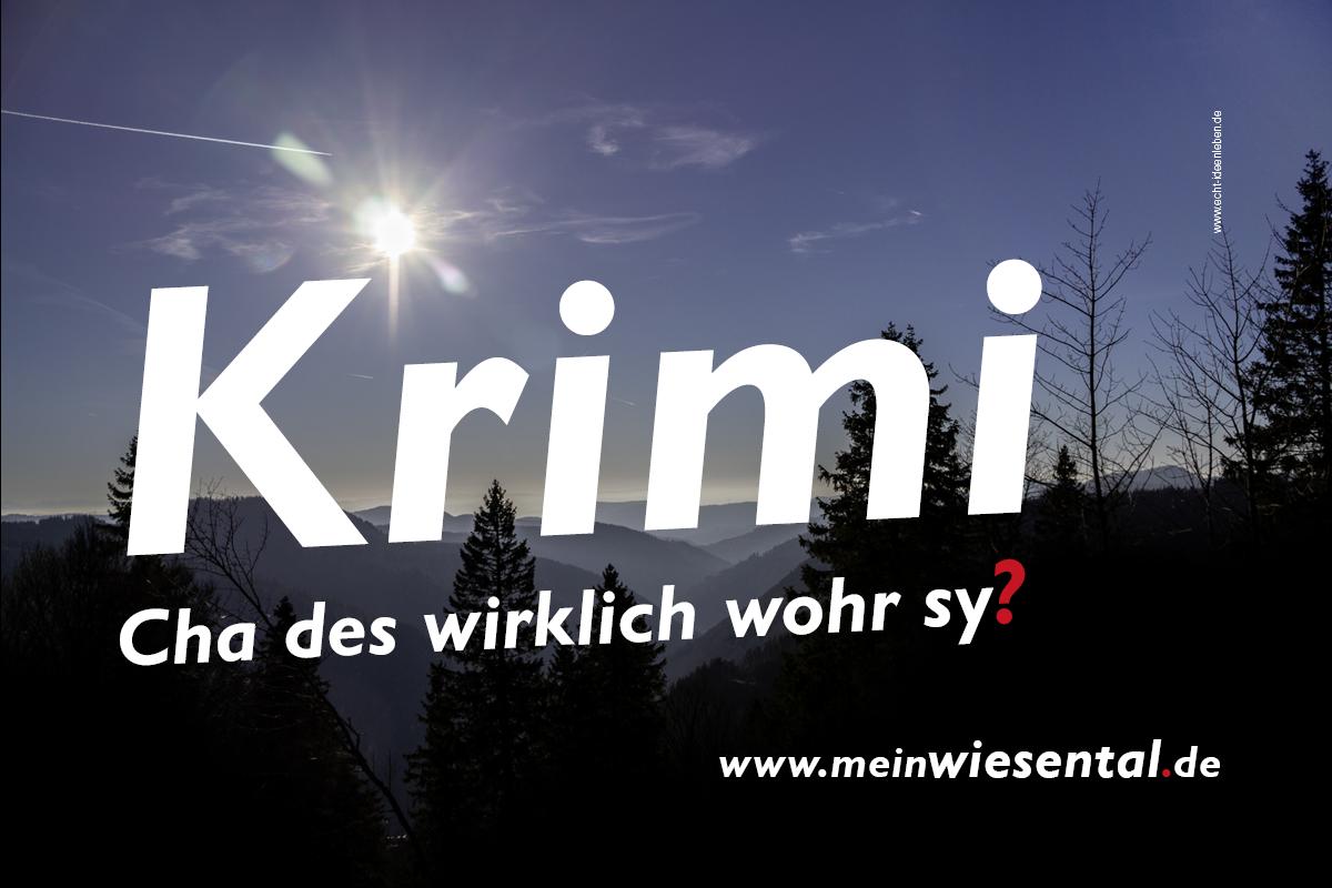 Wiesental-Krimi zum Jahresende - meinWIesental.de