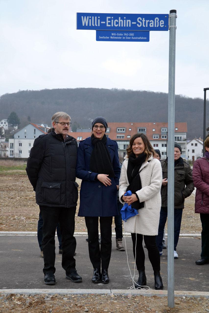 """Einweihung von drei Straßen im Baugebiet """"Belist"""""""